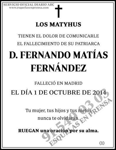 Fernando Matías Fernández